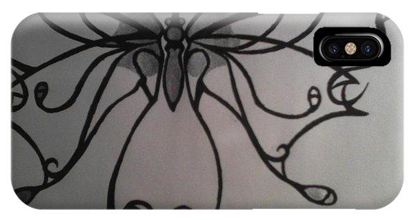 Tribal Butterflly Phone Case by K Kagutsuchi Designs