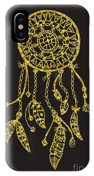 Feathers iPhone Case - Tribal Vector Dream Catcher With by Qilli