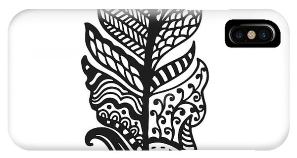 Ornamental iPhone Case - Tribal Vector Feather. Hand Drawn by Qilli