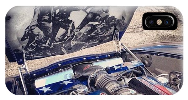 Picoftheday iPhone Case - Tribute #corvette To All Veterans #usa by Mike Maher
