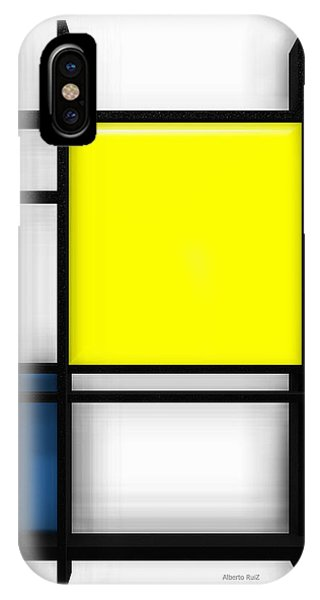tribute to Mondrian 1 IPhone Case