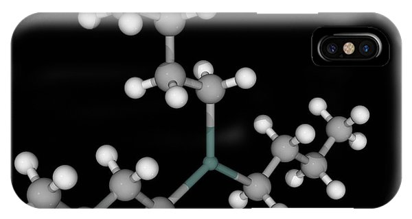 Organic Matter iPhone Case - Tributyltin Hydride Molecule by Laguna Design/science Photo Library