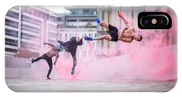 Dust iPhone Case - Tricking With Ahmed Chouikhi, Mehdi Ahrad & Kevin Karlton by Tristan Shu