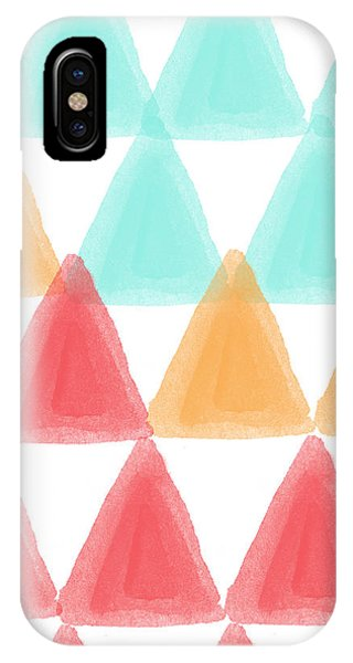 Triangles iPhone Case - Trifold- Colorful Abstract Pattern Painting by Linda Woods