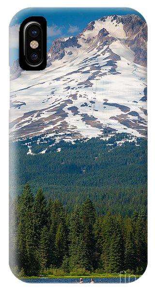 Trillium Lake Canoe IPhone Case