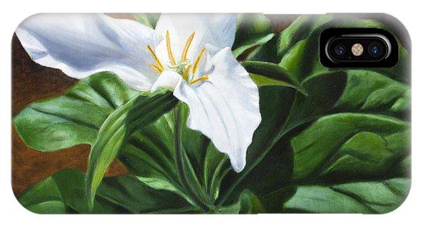 Trillium - Oil Painting On Canvas IPhone Case