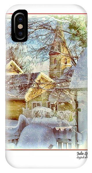 Trinity Episcopal Church In The Snow - Shepherdstown  IPhone Case