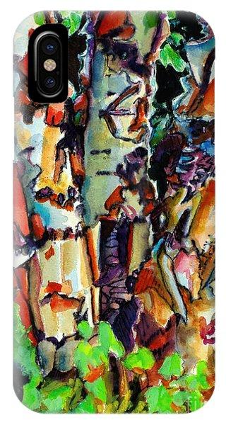 Damage iPhone Case - Trio Birch 2014 by Kathy Braud