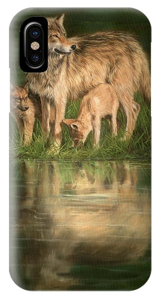 Pup iPhone Case - Trio Of Wolves by David Stribbling