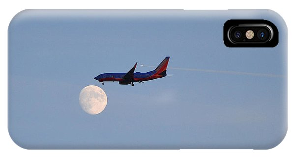 IPhone Case featuring the photograph Southwest Airlines Flies To The Moon by Kelly Reber