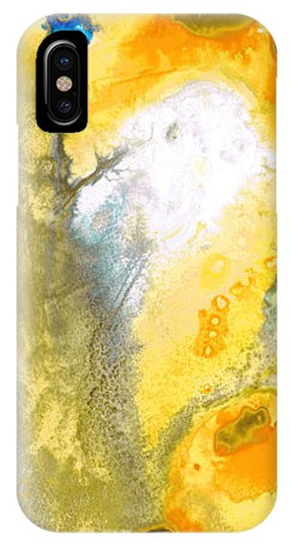 Triumph - Yellow Abstract Art By Sharon Cummings IPhone Case