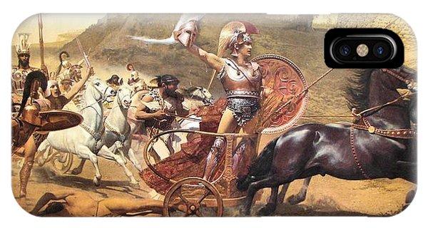 Homer iPhone Case - Triumphant Achilles by Franz von Matsch