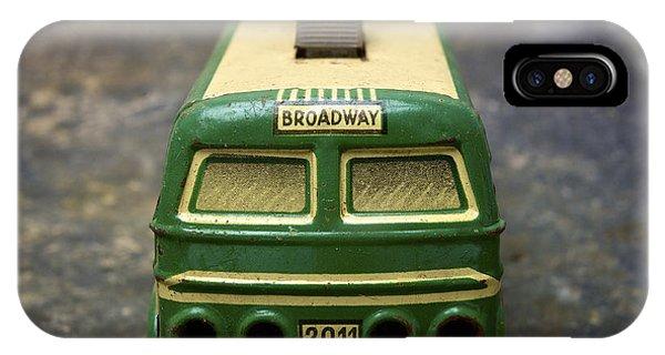 Trolley Car iPhone Case - Trolley Bus Toy by Bernard Jaubert
