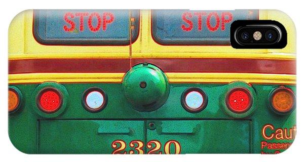 Trolley Car - Digital Art IPhone Case
