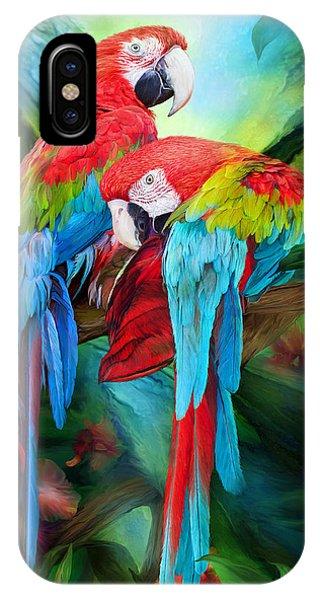 Tropic Spirits - Macaws IPhone Case