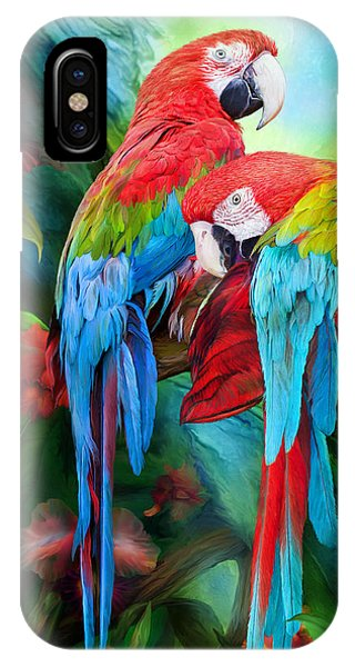 Macaw iPhone Case - Tropic Spirits - Macaws by Carol Cavalaris