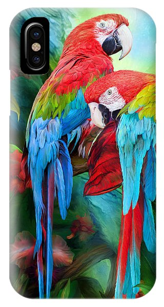 Tropic Spirits - Macaws IPhone Case