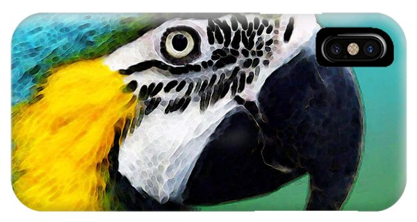 Macaw iPhone Case - Tropical Bird - Colorful Macaw by Sharon Cummings