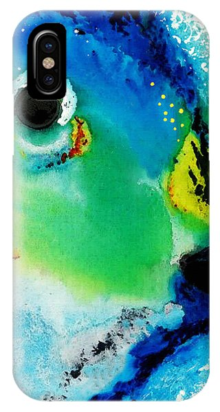 Bahamas iPhone Case - Tropical Fish 2 - Abstract Art By Sharon Cummings by Sharon Cummings
