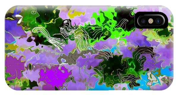 Reef Diving iPhone Case - Tropical Fish Abstraction by Christine Mulgrew