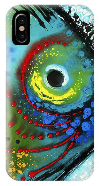 Primary Colors iPhone Case - Tropical Fish - Art By Sharon Cummings by Sharon Cummings