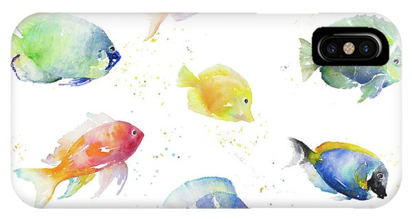 For iPhone Case - Tropical Fish Round by Lanie Loreth