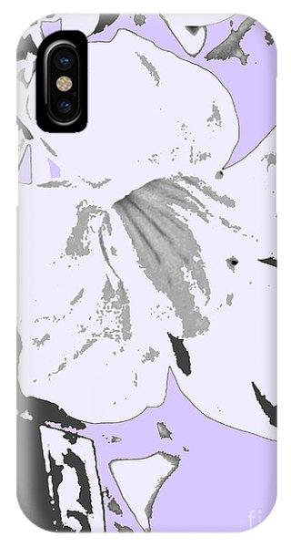Tropical Floral Violet Black IPhone Case