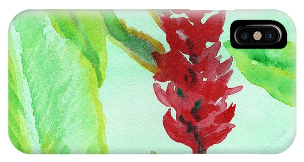 Tropical Flowers 2 IPhone Case