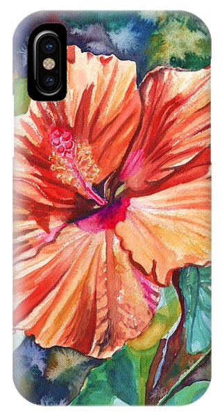 Hibiscus Flower iPhone Case - Tropical Hibiscus 5 by Marionette Taboniar