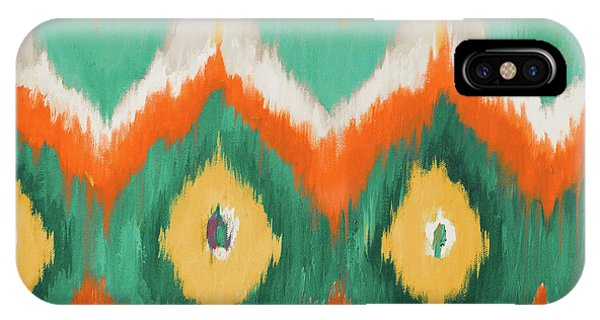 Beach iPhone X Case - Tropical Ikat II by Patricia Pinto