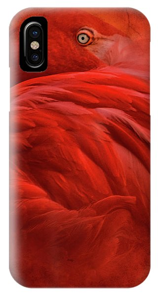 Red iPhone X Case - Tropical by Jeffrey Hummel