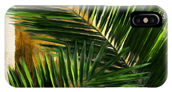 Palm Trees iPhone Case - Tropical Leaves by Lourry Legarde