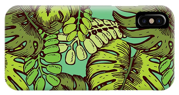 Hawaiian iPhone Case - Tropical Leaves Pattern by Tom And Kwikki
