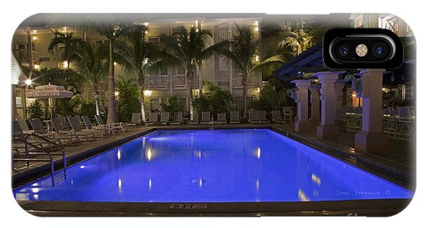 Tiki Bar iPhone Case - Tropical Tranquility by John Stephens
