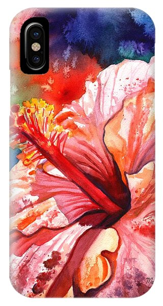 Tropical Pink Hibiscus IPhone Case