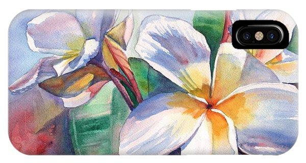 Tropical Plumeria Flowers IPhone Case