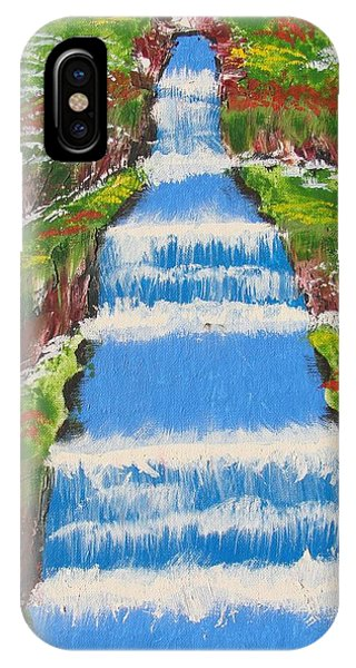 Tropical Rain Forest Water Fall IPhone Case