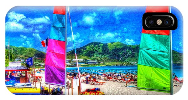 St. Maarten iPhone Case - Tropical Sails by Debbi Granruth