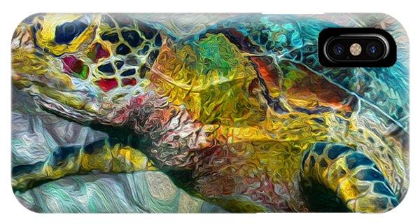 Scuba Diving iPhone Case - Tropical Sea Turtle by Jack Zulli