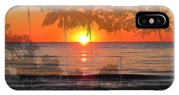 Hawaiian Sunset iPhone Case - Tropical Spirits - Palm Tree Art By Sharon Cummings by Sharon Cummings