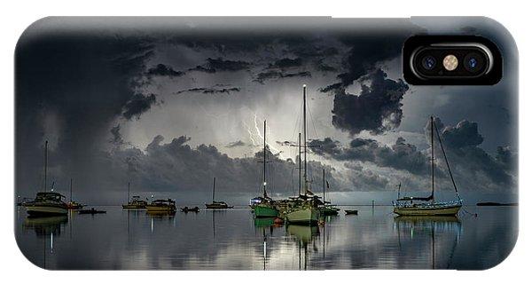 Boat iPhone Case - Tropical Storm2 by Alexandru Popovski