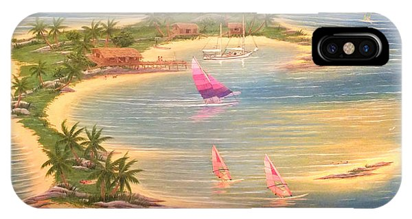 Tropical Windy Island Paradise IPhone Case
