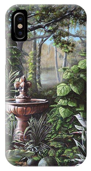 Florida Tropical Garden IPhone Case