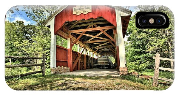 Somerset County iPhone Case - Trostle Town Covered Bridge by Adam Jewell