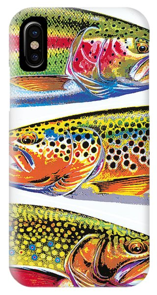 Trout iPhone Case - Trout Abstraction by JQ Licensing
