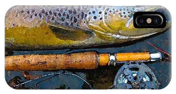 Trout On Fly Phone Case by Lina Tricocci