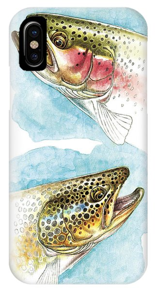 Trout iPhone Case - Trout Study by JQ Licensing