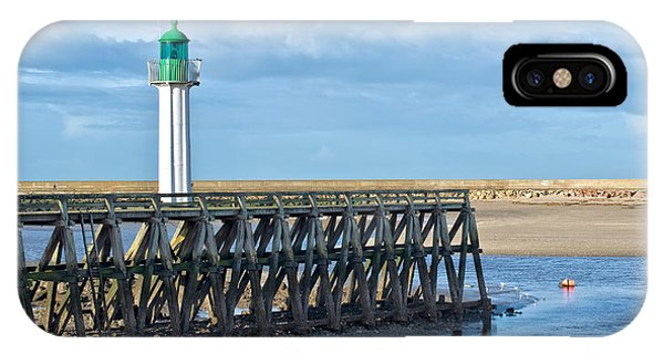 Normandy iPhone Case - Trouville Lighthouse by Delphimages Photo Creations