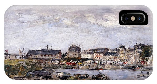 Normandy iPhone Case - Trouville View Toward Deauville On Market Day by Eugene Louis Boudin