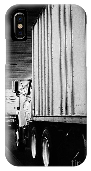 Truck Traffic In Tunnel IPhone Case